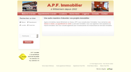 Agence APF immobilier