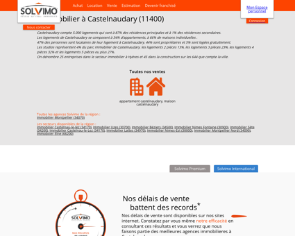 Immobilier Castelnaudary Solvimo