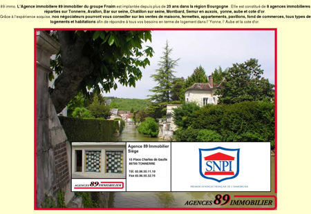 Agences 89 immobilier agence immobiliere...