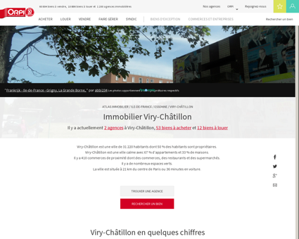 Immobilier Viry chatillon - Biens immobiliers...