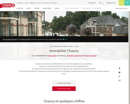 Immobilier Chauny - Biens immobiliers vendus...