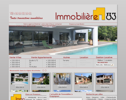 Immobilier Draguignan Villa Appartement...