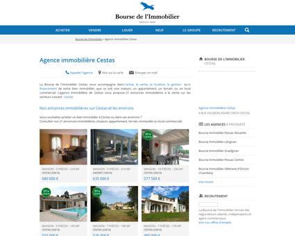 Agence immobilière Cestas - Immobilier,...