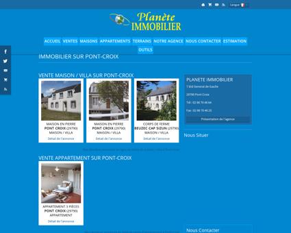 Immobilier Pont-Croix : PLANETE IMMOBILIER