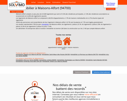 Agence immobiliere Maisons-Alfort Solvimo :...