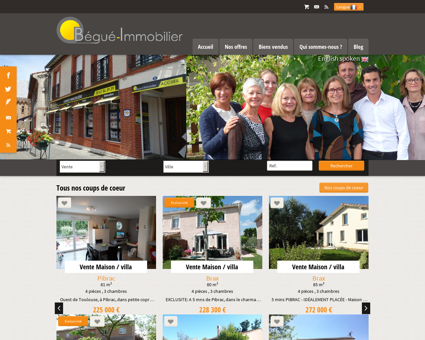 Bienvenue sur www.begue-immobilier.com