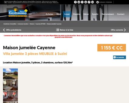 Location maison 3 pièces Cayenne (97300) -...
