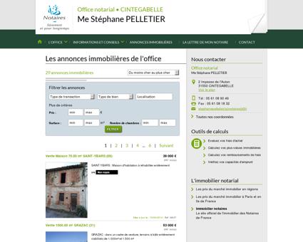 Annonce immobilier notaire - CINTEGABELLE...