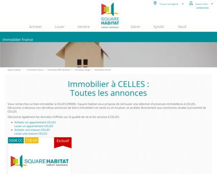 Immobilier CELLES 09000 : annonces...