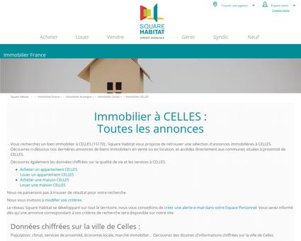 Immobilier CELLES 15170 : annonces...