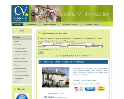 Cedric V. Immobilier - Fourmies, Avesnes sur...