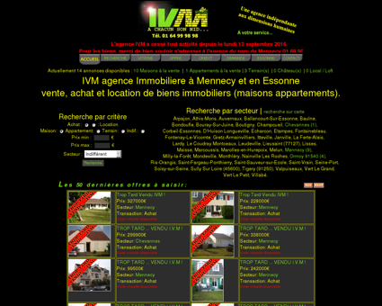 IVM agence Immobiliere Mennecy Immobilier...
