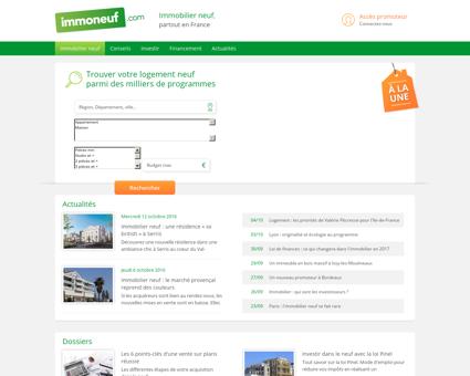 IMMOBILIER NEUF : Programme & Logement...