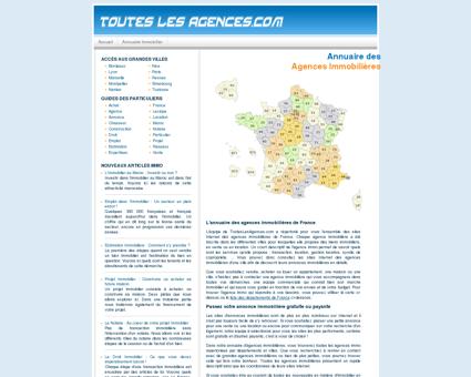 Immobilier : Liste des Agences Immobilières...