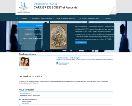 Notaire CUSSET (03) - CARRIER DE BOISSY et...