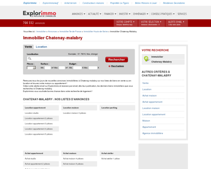 Immobilier Chatenay-malabry : annonces...