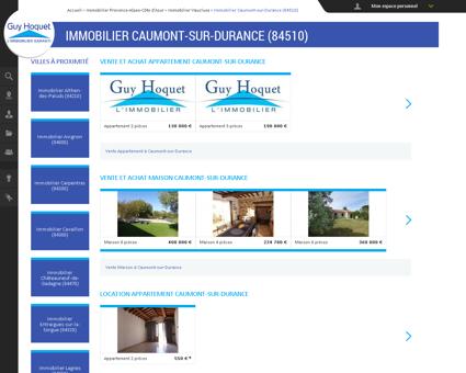 Immobilier Caumont-sur-Durance (84510) -...