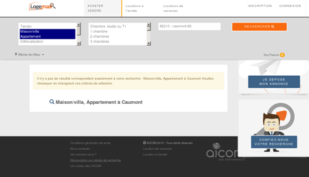 Immobilier caumont - Tous types appartements et villas.