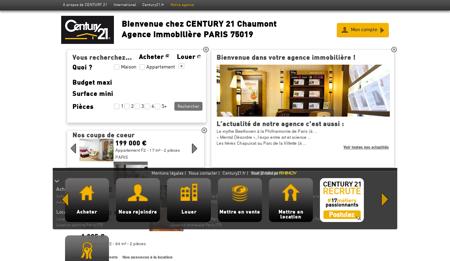 Agence immobilière PARIS CENTURY 21...