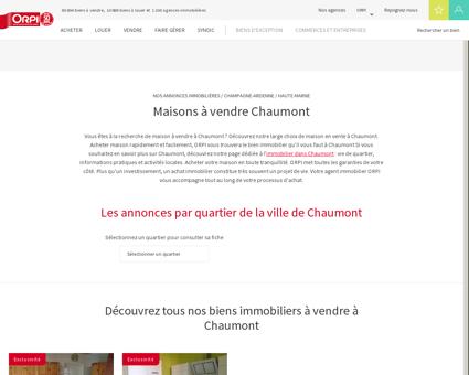 Achat - Vente Maison à Chaumont - Orpi...