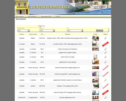 Lempdes Immobililier RC 342 175 072 00046...