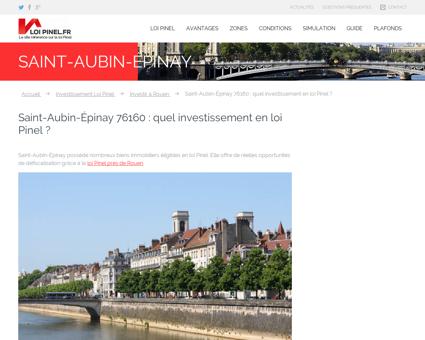 Loi Pinel Saint-Aubin-Épinay : Où investir pour ...