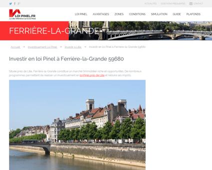 Loi Pinel Ferrière-la-Grande : Où investir pour ...