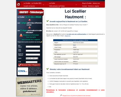 Loi Scellier Hautmont, appartement neuf 59330