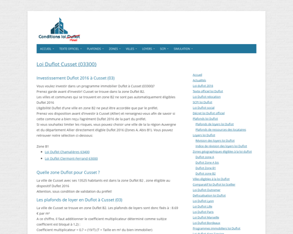Loi Duflot Cusset (03300) - Zone, éligiblité,...