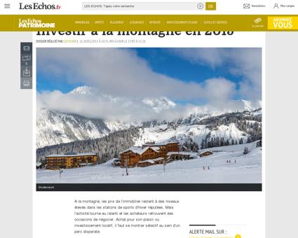 Investir à la montagne en 2015 - Patrimoine :...