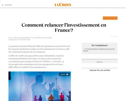 Comment relancer l'investissement en France '...