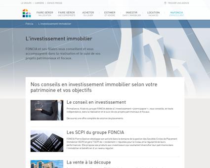 Investir - Foncia : Achat, Vente, Location,...