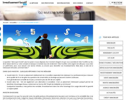 Dans quoi investir  - Investissement-locatif.com