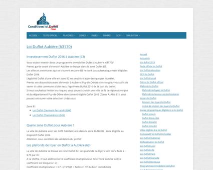 Loi Duflot Aubière (63170) - Zone, éligiblité,...