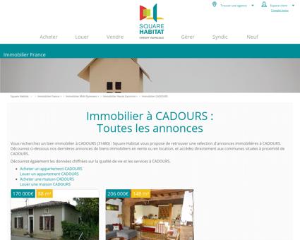 Immobilier CADOURS 31480 : annonces...