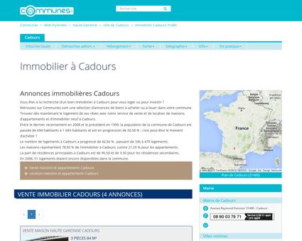 Immobilier Cadours , Haute-Garonne :...