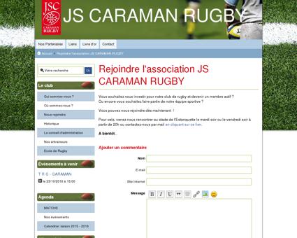 Rejoindre l'association JS CARAMAN RUGBY -...