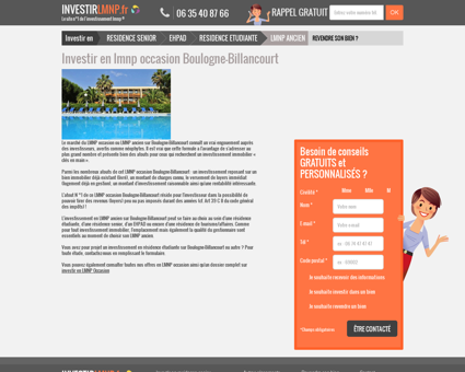 Investir en lmnp occasion Boulogne-Billancourt