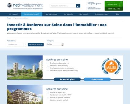 à Asnieres-sur-seine (investissement locatif ...