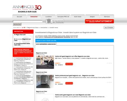 Investissement Bagnols-sur-Cèze (30200),...