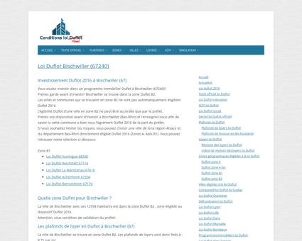 Loi Duflot Bischwiller (67240) - Zone, éligiblité ...