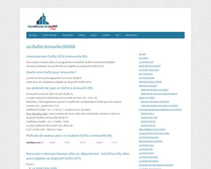 Loi Duflot Arnouville (95400) - Zone, éligiblité,...