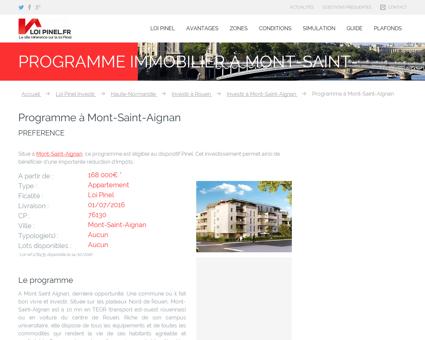 Programme à Mont-Saint-Aignan :...