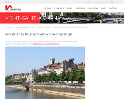 Loi Pinel Mont-Saint-Aignan : Où investir pour ...