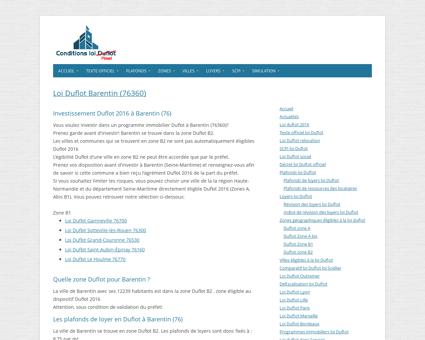 Loi Duflot Barentin (76360) - Zone, éligiblité,...