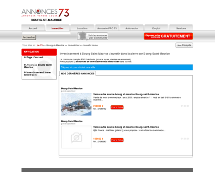 Investissement Bourg-Saint-Maurice (73700),...