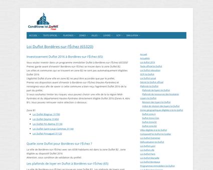 Loi Duflot Bordères-sur-l'Échez (65320) - Zone ...