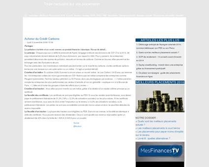 Tout Sur Les Placements - L'information...