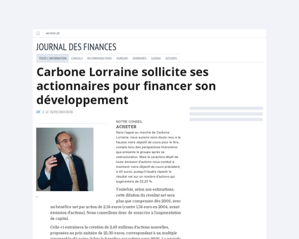 Archives  Investir - Le Journal des Finances -...