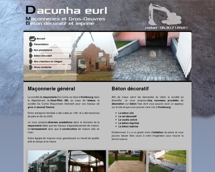 Dacunha Eurl - Maçonnerie&Gros-Oeuvre -...